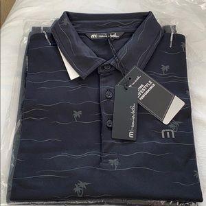 NEW Travis Mathew THROUGH BEING COOL Polo XL Black